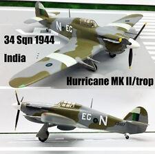 Easy model Hurricane Mk IIB Trop 34 Sqn 1944 India aircraft 1/72  plane