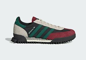 adidas Originals Handball Spezial Trail Shoes in Black and Green