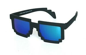 MINECRAFT Black Sunglasses Kids Teens Boys Girls UV400 Tinted Blue Lens Unisex