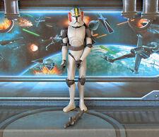 STAR Wars Clone Wars CW ANIMATO figura comandante Blackout Stealth operazioni