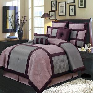 8PC-Morgan Comforter Set with matching skirt, shams & Cushions