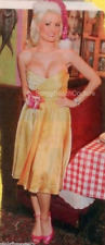 Betsey Johnson Yellow Silk Ombre Gold Prom Coctail Party Evening Dress 0 $400