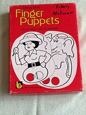 Vintage TREND Circus Time Finger Puppets 1970's Die Cut Color