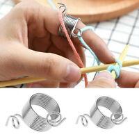 Ring Type Knitting Tools Yarn Spring Guides Wear Thimble Finger Thimble Sewing