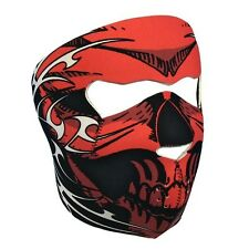 Biker Mask red tribal Full face Mask