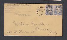 USA 1890 MAGAZINES & REVIEWS ADVERTISING COVER NEW YORK DUPLEX TO ELMIRA