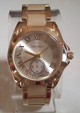 Women's Fashion Designer Bone/Gold Finish Boyfriend Dressy/Casual  Wrist Watch