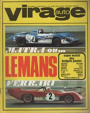 VIRAGE AUTO 1972 6 24H MANS 1000KM BOAC MONZA SPA GP ESPAGNE SIMCA 1000 RALLYE 1