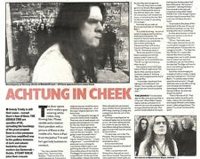 14/12/91 Pgn10 Article & Picture achtung In Cheek The Apostles Of U2 The Joshua