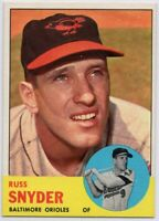 1963 Topps #543 Russ Snyde Pack Fresh Mint Baltimore Orioles FREE SHIPPING