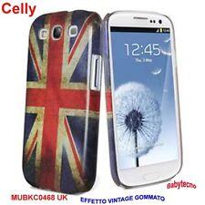 CELLY Guscio Cover adatto a Samsung GT-I9300 I9301 S3 NEO UK REGNO UNITO VINTAGE