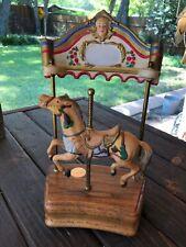 Vintage Willitts Designs Tobin Fraley Porcelain Horse Music Carousel *2760/9500