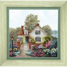 Counted Cross Stitch Kit White house DIY Unprinted canvas