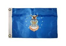 12x18 US Air Force Emblem Flag Double Sided Nylon Outdoor Boat Flag