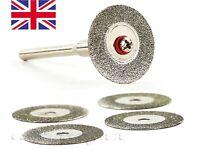 Dremel accessories-  5x 30mm Emery Diamond Rotary Cutting Discs+ Mandrel