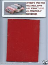 CARL EDWARDS 2007 OFFICE DEPOT FORD AUTHENTIC NASCAR RACE USED SHEETMETAL #1