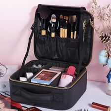 Cosmetic Makeup Bag Case Travel Waterproof Brushes PU Leather Storage Organizer