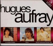 COFFRET 3 CD HUGUES AUFRAY RARE- LE ROSSIGNOL ANGLAIS, CELINE, MUSICORAMA 1969
