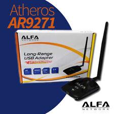 🔥🔥 Adaptador WiFi USB Atheros AR9271L Interior antena 5dBi RP-SMA Macho Ateros