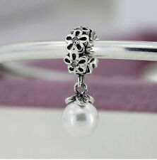 New European Silver Charm Bead Fit sterling 925 Necklace Bracelet Chain US v26q