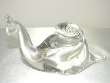 Art Clear Glass Snail Shaped Paperweight, Nice Looking!!