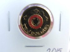 2015 $2 DOLLAR coin RED LEST WE FORGET ANZAC UNC