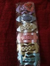 6 gorgeous large pastel-coloured hair slides/grips-pink,lilac,cream,mint, blue