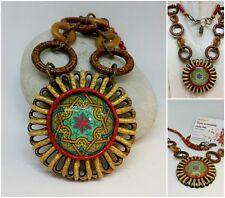 Collar artesanal algo desigual,Boho-Mandala / Handmade necklace hippie style