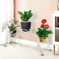 3 Tier Metal Plant Stand Flower Pot Holder Rack Shelf Garden In/Outdoor Decor
