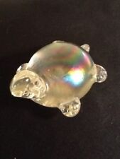 "4"" W X 2 1/2"" H Glass Turtle Figurine Paperweight"