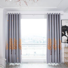 Longevity Embroidered Pattern Tulle Curtains Kitchen Bedroom Living Room 6A