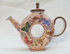 Collectable Trade Aid Miniature Teapot with Lid, No 6, L Edwards, 1997