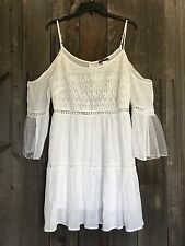 Free Spirit Boho Hippie People Cold Shoulder Lace Accent Festival Dress S NWT