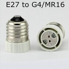 E27 to G4 Female LED  Bulb Base Lamp Socket Adapter Holder Converter MR16 2017