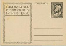 DT.REICH 1942 Sonderkarte zum Europäischen Postkongress in Wien (12.-19.Okt.)