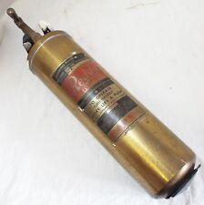 Antique W.D. ALLEN Underwriter's Laboratories 1QT. Brass REDDY FIRE EXTINGUISHER