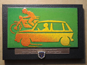 Abzeichen Plakette Wandbild emailliert ADMV Auto Motorrad 1983 Cottbus 068