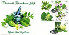 Fiji 2015 FDC Plants with Remedies 5v Set Cover Vevedu Lauwere Flowers Stamps