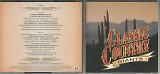"""Time Life Classic Country """"Giants"""" 2 CD Everly Brothers/Johnny Cash/Brenda Lee"""