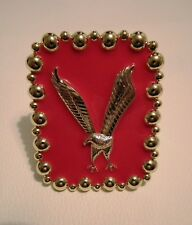 ELVIS PRESLEY CONCERT STYLE GOLD AND RED EAGLE CUFF