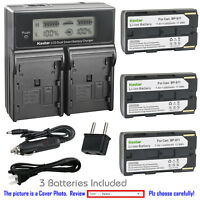 Kastar Battery LCD Dual Fast Charger for Canon BP-911 & Canon UCX50Hi, UCX55Hi