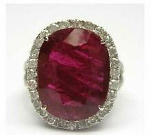 LIQUIDATION!!! $55000 RARE MAGNIFICENT 18KT GOLD LARGE 11CT RUBY DIAMOND RING