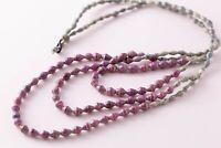 Multi Strand Recycled Paper Bead Beaded Ethnic Boho Bohemian Necklace