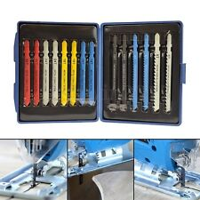 14Pcs Assorted Jigsaw Blades Set T Shank Metal Plastic Wood Blades