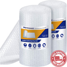 Metronic Bubble Cushioning Wrap Roll 12x72 Ft Bubble Roll Perforated