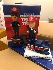 Donald Trump 2020 All Aboard The Trump Train Bobblehead Bobble Head NEW In Box