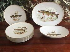 JKW Karlsbad Böhmen -  edles 8 teiliges Fischservice für 6 Personen