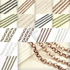 2/4M Iron Rolo Chain Unfinished Chains Jewelry Making 3/6.5/2.7/3.9mm New