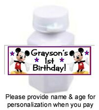 30 Mickey Mouse Clubhouse Birthday Party Bubble Labels Sticker Baby Shower Favor