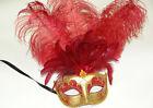Venetian Masquerade Ball Eyes Mask Black silver gold Ostrich feather Halloween